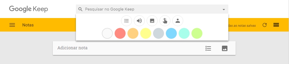 Gerenciamento de tarefas - google keep